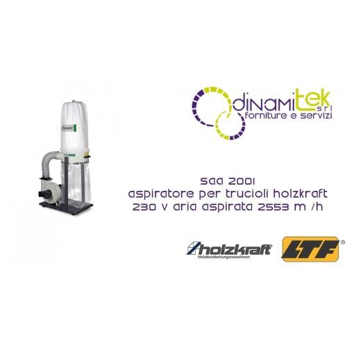 HOLZKRAFT - HOL5922201 - Aspiratore Per Trucioli Modello SAA 2001 - 230 V - Aria Aspirata 2553 m/h Dinamitek 1