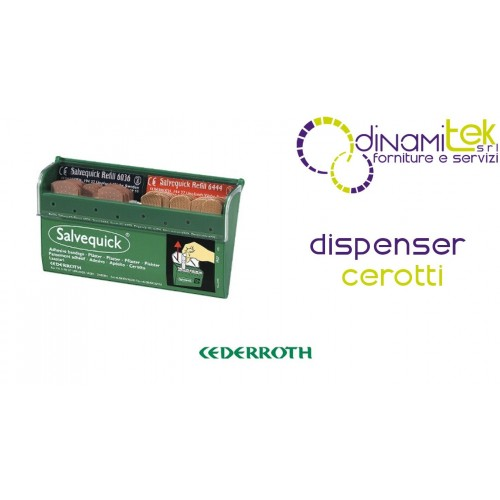 111100 SALVEQUICK 4907 DISPENSER-PLASTERS FOR INSTANT USE CEDERROTH Dinamitek 1