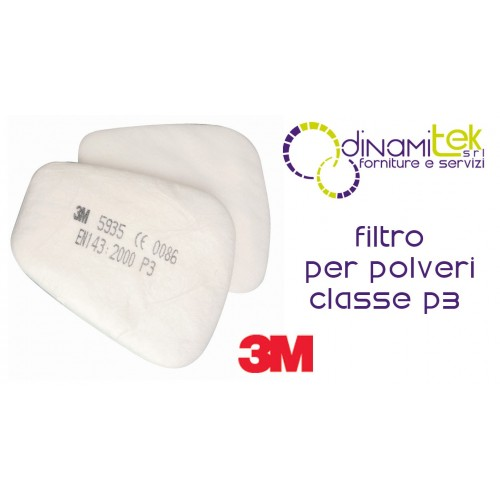 5935 PAIR, FILTERS FOR DUST CLASS P3 3M Dinamitek 1