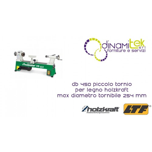 5920450 DB 450 Piccolo Tornio Per Legno HOLZKRAFT Max Diametro Tornibile 254 mm