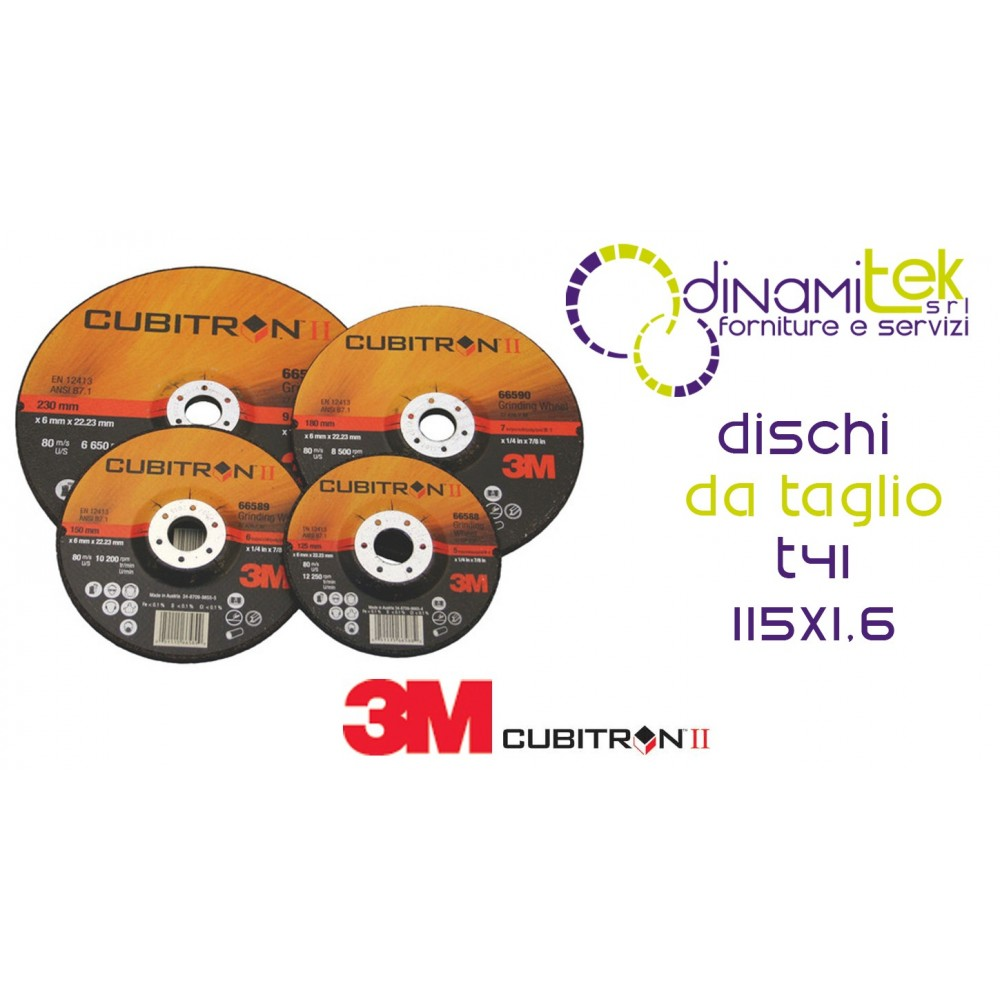 65454-T41-CUBITRON II-DISCO DA TAGLIO VERSIONE PIANA 115 X 1.6 3M Dinamitek 1