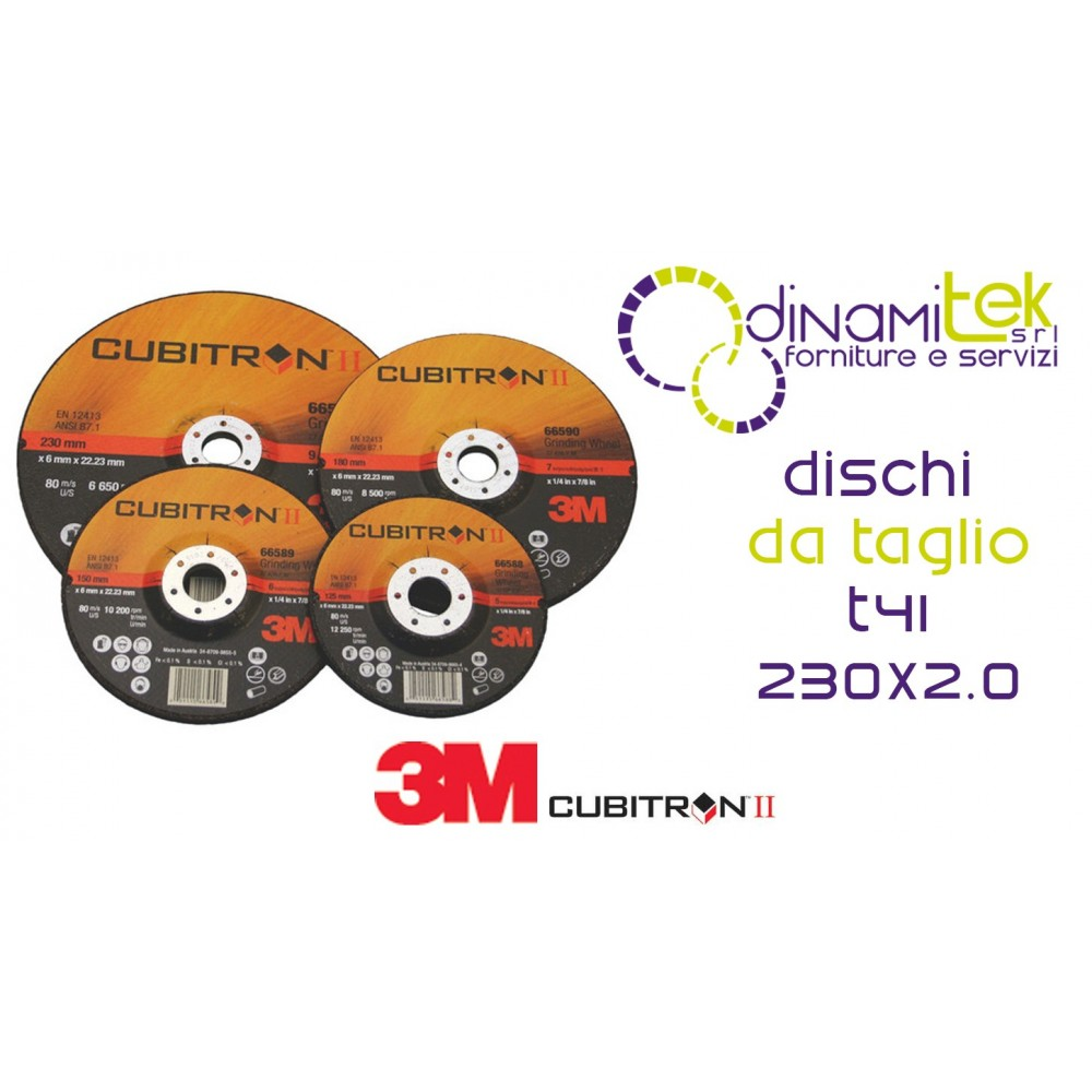 65463-T41-CUBITRON II-DISCO DA TAGLIO VERSIONE PIANA 230 X 2 3M Dinamitek 1
