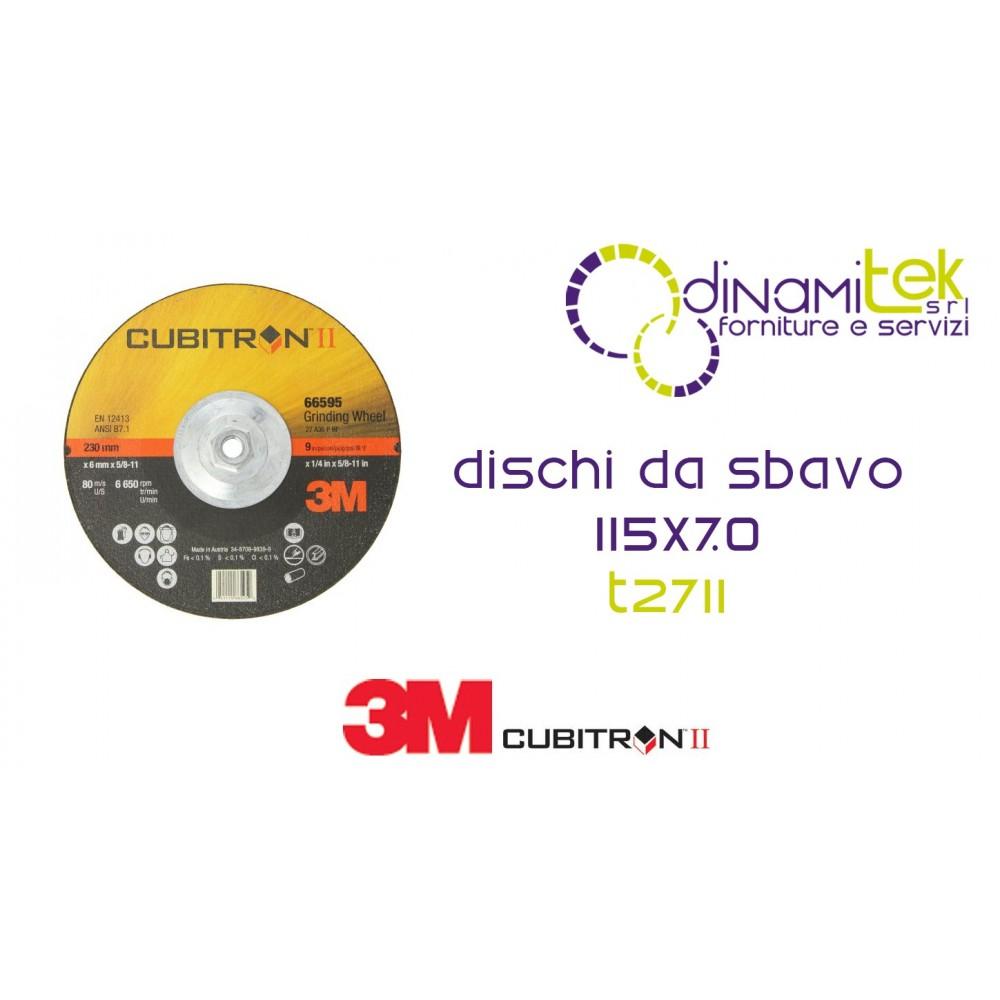 94003-T27-CUBITRON II GRINDING DISC DEPRESSED CENTRE 115 X 7 3M Dinamitek 1