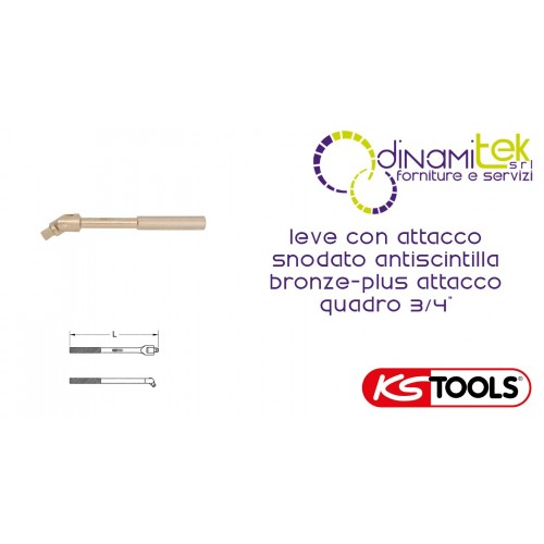 """LEVERS WITH PIVOTING HEADSTOCK, NON-SPARKING BRONZE-PLUS KS TOOLS THE ATTACK FRAMEWORK 3/4"""" Dinamitek 1"""