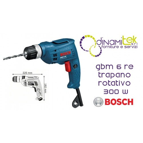 DRILL ROTARY 300W SPINDLE AUTOSERRANTE 10MM GBM 6 RE BOSCH Dinamitek 1