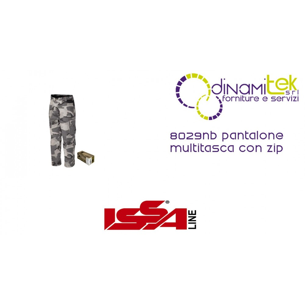 PANTS MULTITASCA WITH A ZIP WORK 8029NB ISSA LINE Dinamitek 1