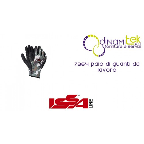 PAIR OF WORK GLOVES 7364 ISSA LINE Dinamitek 1