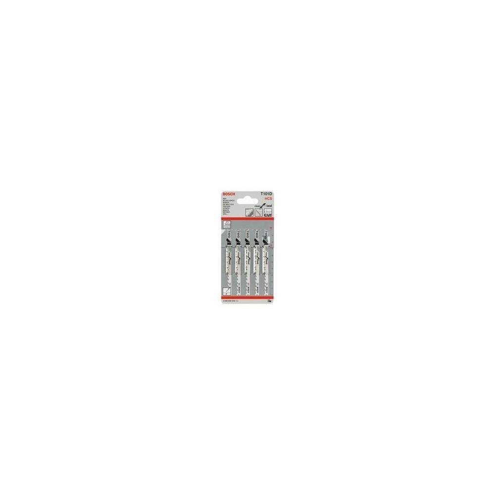 BLADE FOR JIGSAW 5PCS T 101 D HCS BOSCH Dinamitek 3