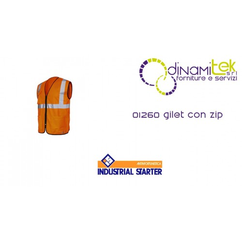 01260 VEST WITH ZIP HIGH VISIBILITY INDUSTRIAL STARTER Dinamitek 1