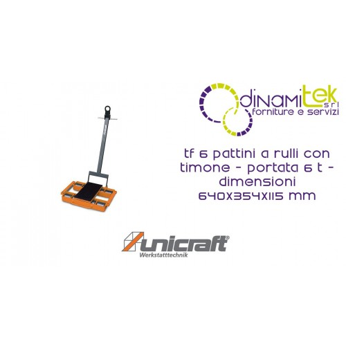 SKATES ROLLER MM WITH RUDDER, CAPACITY 6 T DIMENSIONS 640X354X115 TF 6 UNICRAFT Dinamitek 1