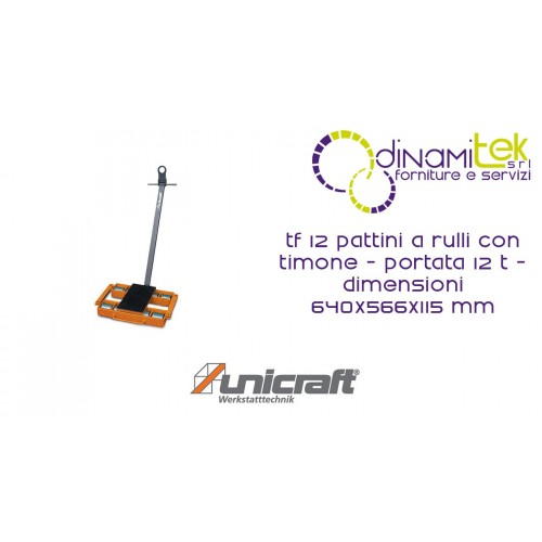 SKATES ROLLER MM WITH RUDDER, CAPACITY 12 T DIMENSIONS 640X566X115 TF 12 UNICRAFT Dinamitek 1