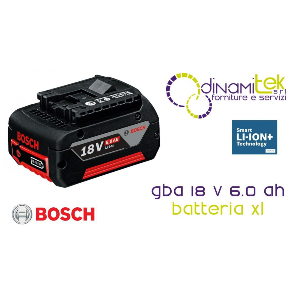 XL BATTERY 18 VOLT 6.0 AH WITH TECHNOLOGY COOLPACK GBA 18 V 6.0 AH BOSCH Dinamitek 1
