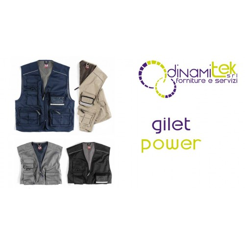 GILET WORKER POWER E0305 Dinamitek 1