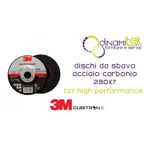 85418-T27-ALTO RENDIMIENTO-RECTIFICADO DE DISCOS DE CENTRO DEPRIMIDO 230 X 7 3M Dinamitek 1