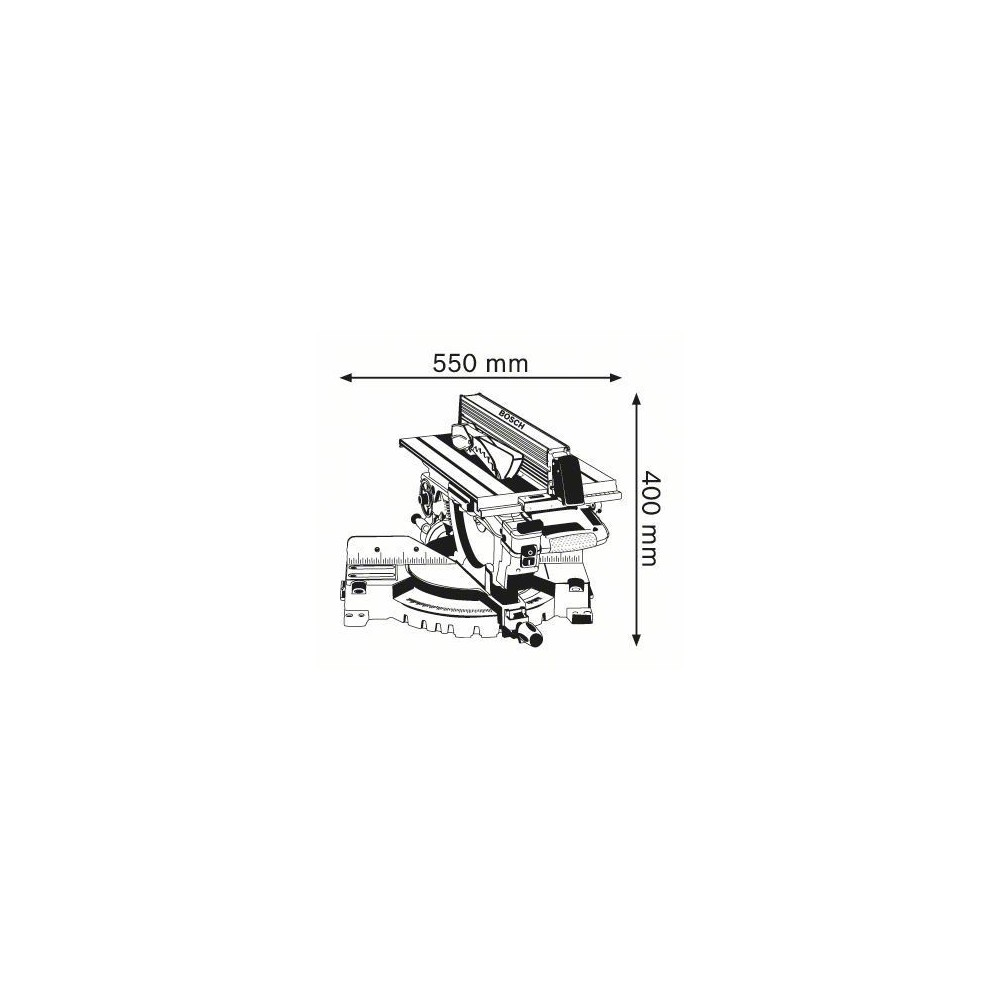 0.601.B15.001 GTM 12 JL TRONCATRICE LEGNO BOSCH Dinamitek 3