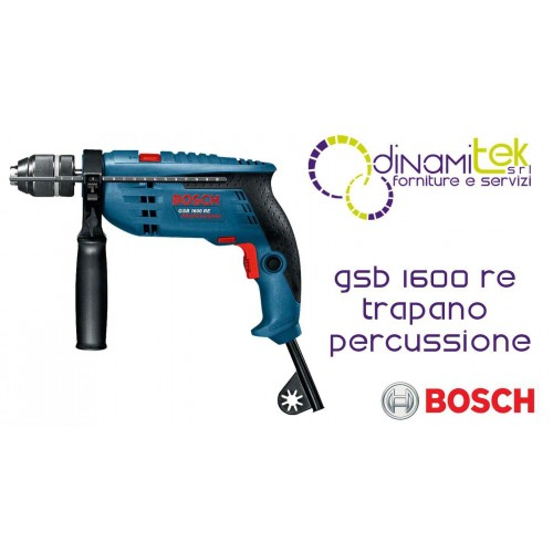 DRILL WITH PERCUSSION SUITCASE AND ACCESSORIES GSB 1600 RE BOSCH Dinamitek 1