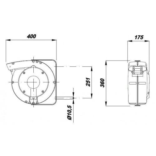 LEVIGATRICE INCLINABILE A NASTRO E DISCO 375W-FERM-BGM1003