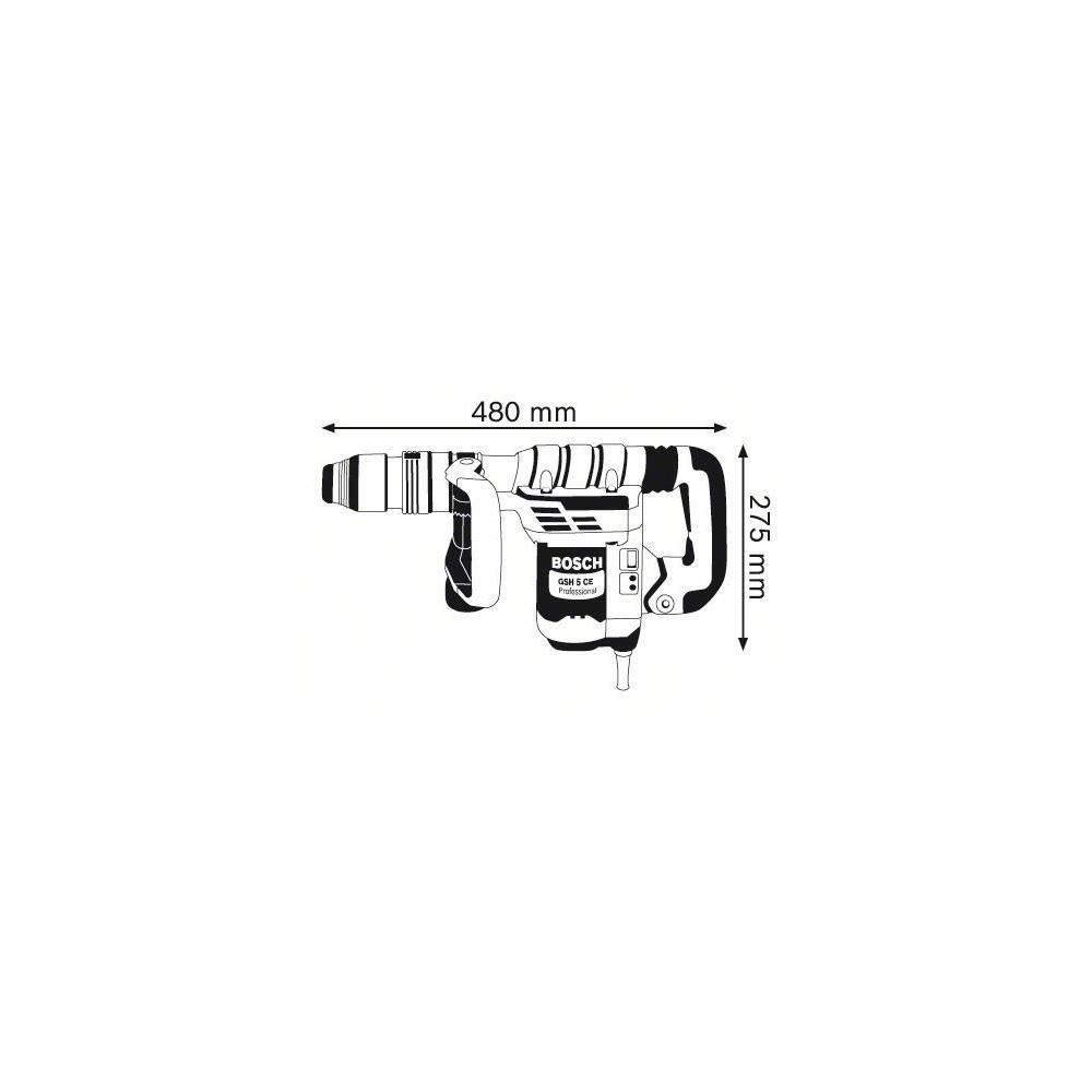 0.611.321.000 GSH 5 CE MARTELLO DEMOLITORE ATTACCO SDS-MAX BOSCH Dinamitek 3