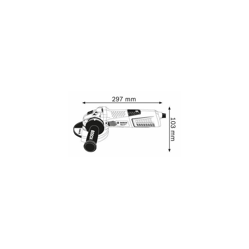 0.601.79E.002 GWS 13-125 CI SMERIGLIATRICE ANGOLARE BOSCH Dinamitek 3