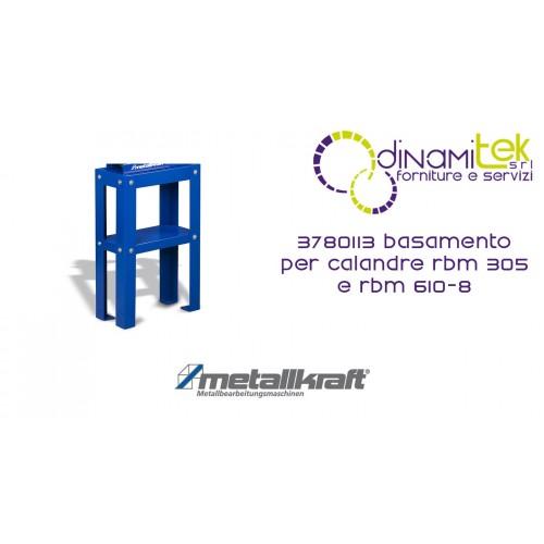 THE BASE FOR ROLL PLATE BENDING MACHINES RBM 305 AND RBM 610-8 3780113 METALLKRAFT Dinamitek 1