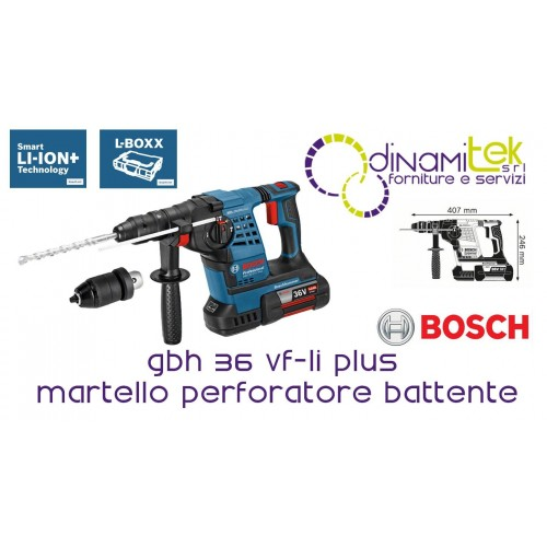 0.611.907.002 GBH 36 VF-LI PLUS MARTELLO PERFORATORE BATTENTE BOSCH