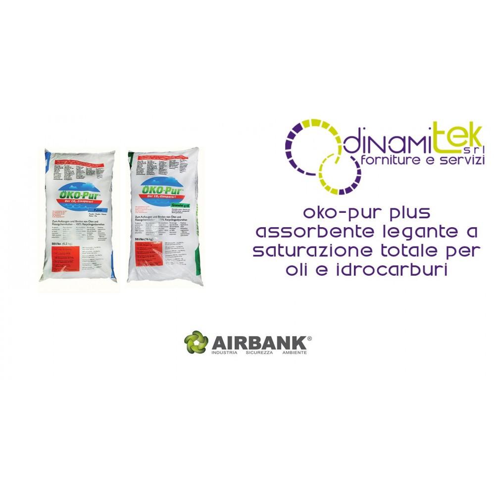 OKO-PUR PLUS ASSORBENTE LEGANTE AIRBANK A SATURAZIONE TOTALE PER OLI E IDROCARBURI Dinamitek 1