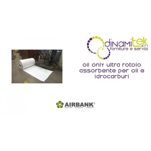ROTOLO ASSORBENTE AIRBANK PER OLI E IDROCARBURI SERIE OIL ONLY ULTRA Dinamitek 1
