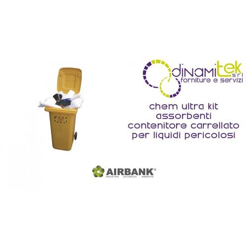 KIT ABSORBANT AIRBANK CONTENEUR à ROUES POUR LES LIQUIDES DANGEREUX CHEM ULTRA Dinamitek 1