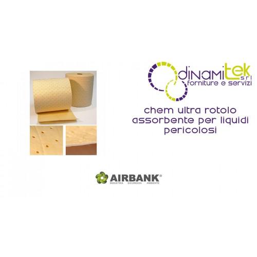 ROLL ABSORBENT AIRBANK FOR HAZARDOUS LIQUIDS CHEM ULTRA Dinamitek 1
