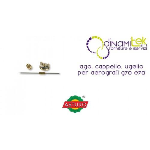 AGO CAPPELLO UGELLO ASTURO PER AEROGRAFI G70 - E70 Dinamitek 1