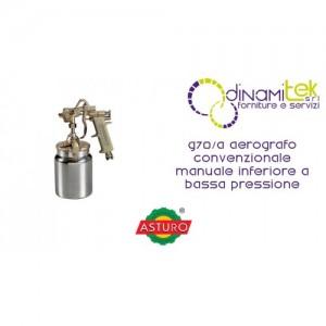 AEROGRAFO G70/A ASTURO CONVENZIONALE MANUALE INFERIORE A BASSA PRESSIONE Dinamitek 1