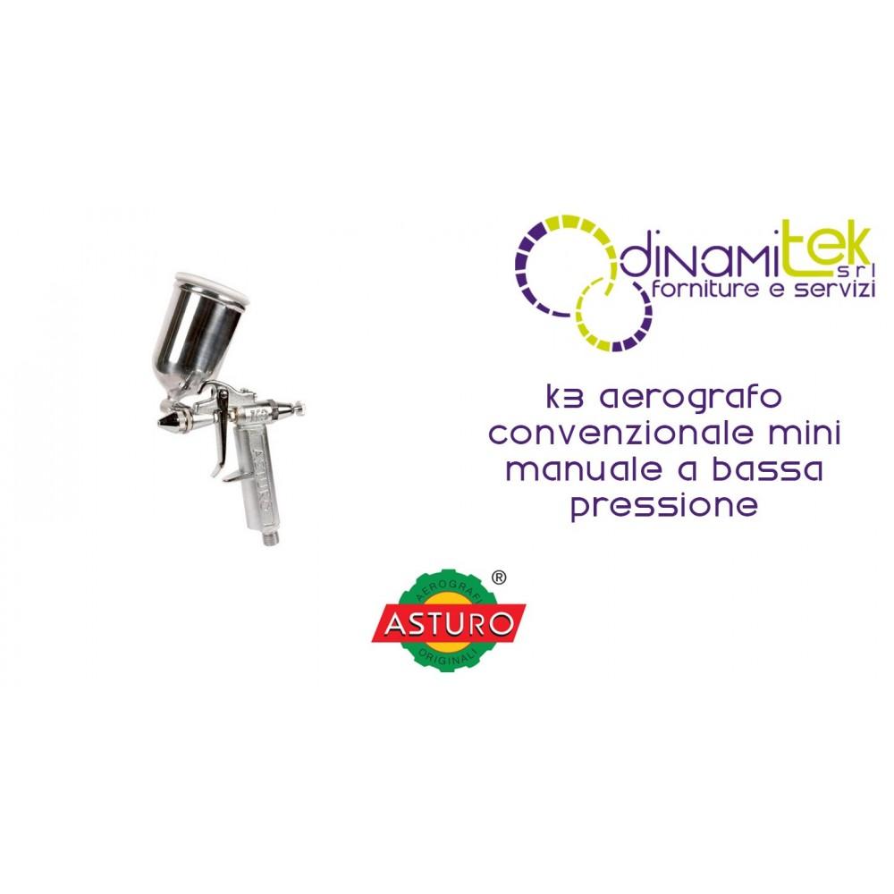 AEROGRAFO K3 ASTURO CONVENZIONALE MINI MANUALE A BASSA PRESSIONE Dinamitek 1