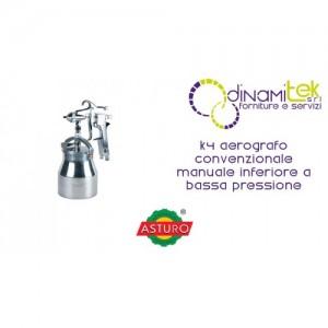 AEROGRAFO K4 ASTURO CONVENZIONALE MANUALE INFERIORE A BASSA PRESSIONE Dinamitek 1