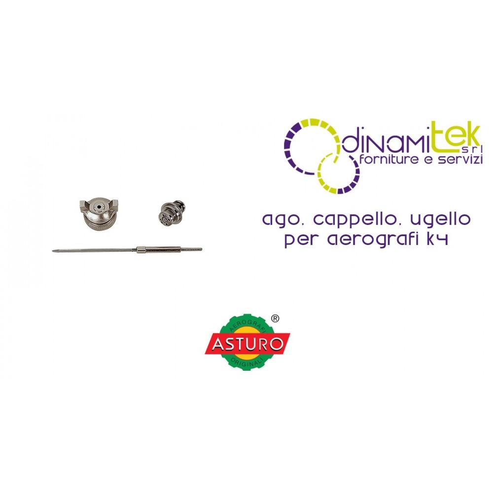 AGO CAPPELLO UGELLO ASTURO PER AEROGRAFI K4 Dinamitek 1