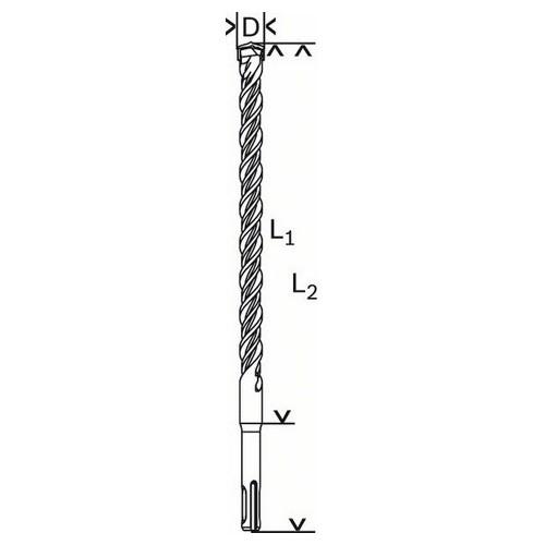 1.618.596.165-000 PUNTE PER MARTELLI SDS-PLUS-5 BOSCH Dinamitek 2