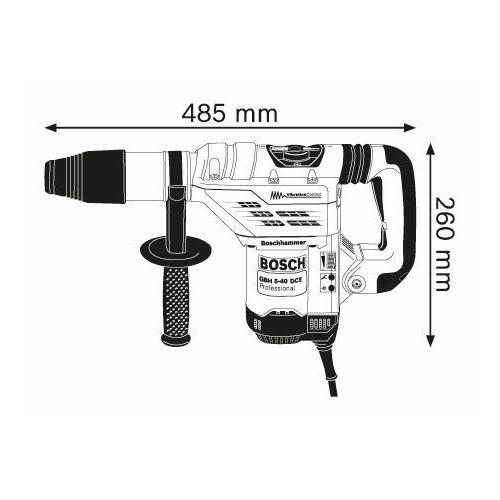 MARTILLO PUNCH ATAQUE SDS-MAX GBH 5-40 DCE BOSCH Dinamitek 3