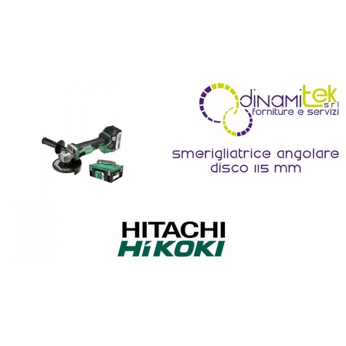 SMERIGLIATRICE ANGOLARE DISCO 115 mm G18DBL 18V LI HIKOKI Dinamitek 1