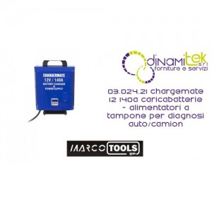 03.024.21 CHARGEMATE 12 140A CARICABATTERIE - ALIMENTATORI A TAMPONE PER DIAGNOSI AUTO/CAMION SPIN MARCO TOOLS Dinamitek 1