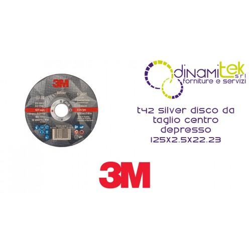 T42 PLATA DE CORTE DE DISCOS DE CENTRO DEPRIMIDO 125X2.5X22.23 51801 3M Dinamitek 1