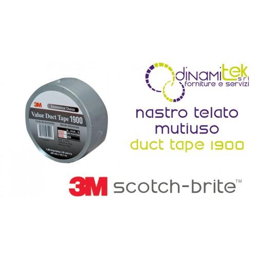 DUCT TAPE 1900 RACERS TAPE MULTI-PURPOSE SILVER-50 X 50 3M Dinamitek 1