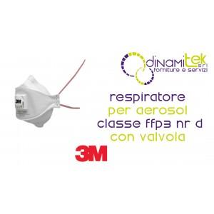 9332+ RESPIRADOR RESPIRADOR CLASE FFP3 NR D CON VáLVULA 3M Dinamitek 1