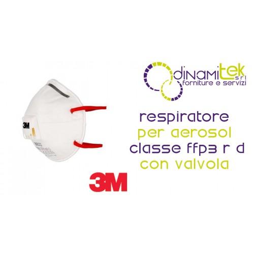 8832 RESPIRATORE FACCIALE FILTRANTE CLASSE FFP3 CON VALVOLA 3M Dinamitek 1