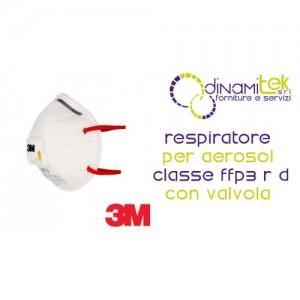 8832 RESPIRATEUR FACE 3M FILTRE AVEC CLAPET ANTI-RETOUR, CLASSE FFP3 Dinamitek 1