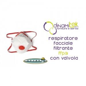 P830V RESPIRATEUR FACIAL OPTER FILTRE DE CLASSE FFP3 AVEC VALVE Dinamitek 1