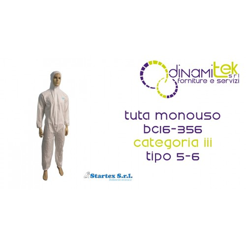 SUIT DISPOSABLE CATEGORY III TYPE 5-6 STARTEX Dinamitek 1