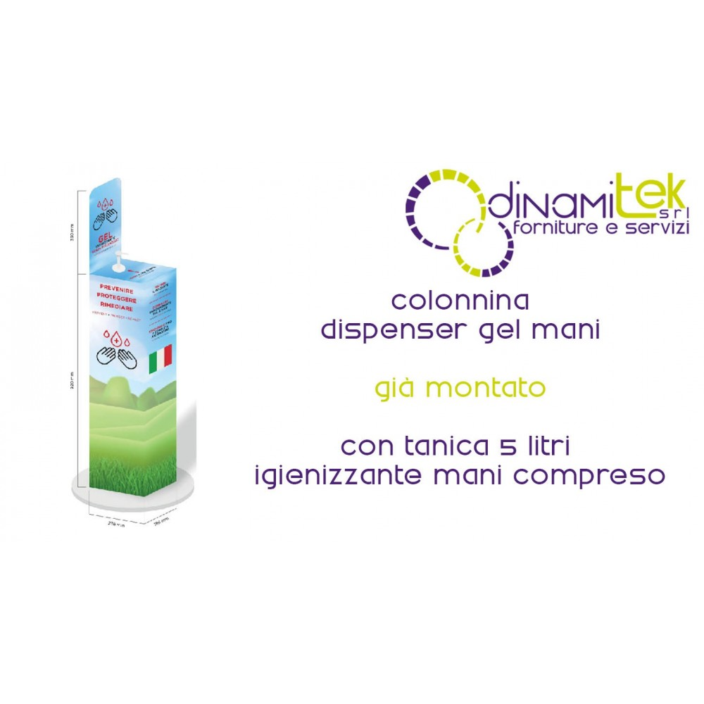 COLONNINA DISPENSER GEL MANI Dinamitek 1