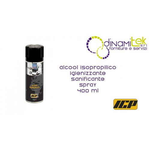 ALCOL ISOPROPILICO SPRAY IGIENIZZANTE 400 ml Dinamitek 1