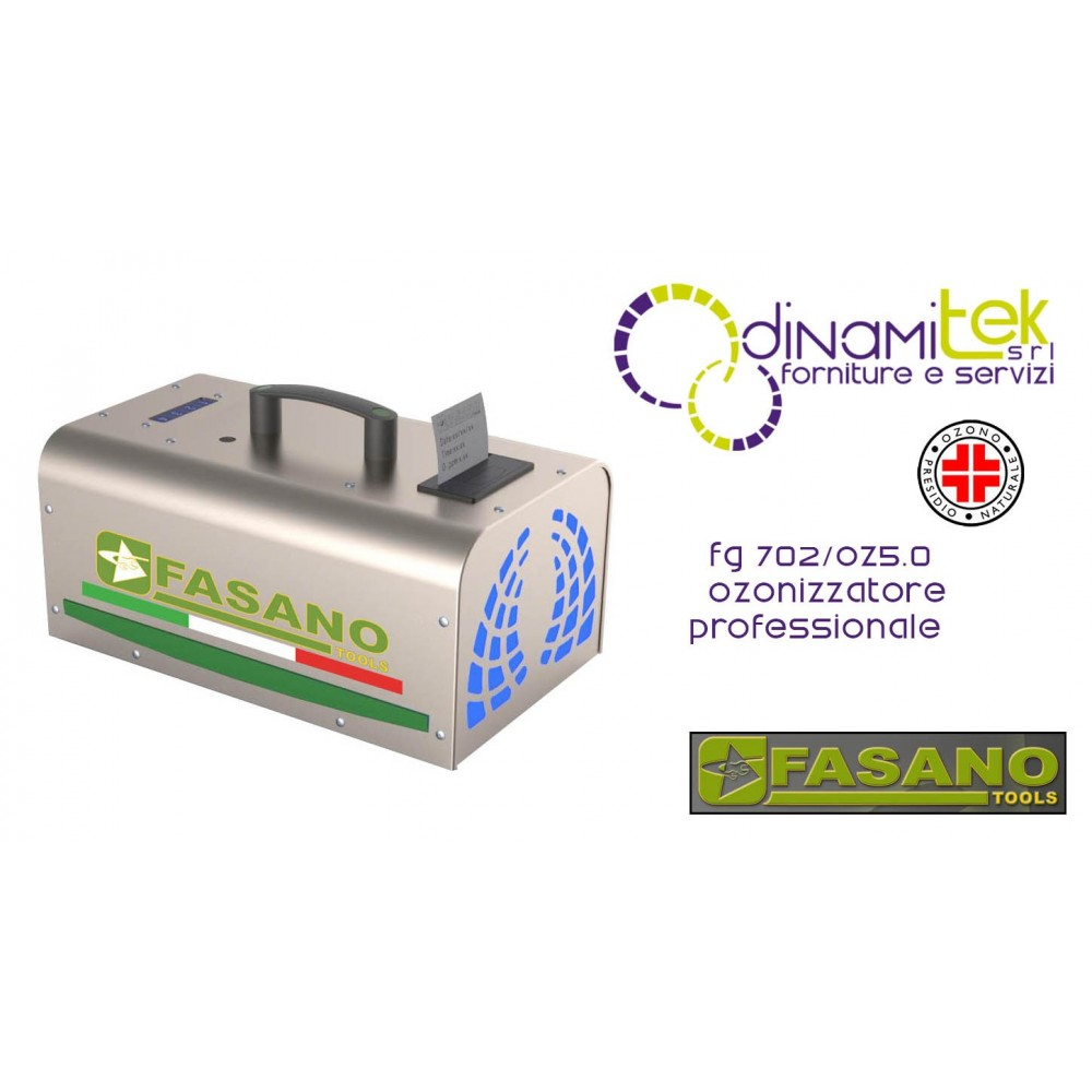 OZONIZZATORE PROFESSIONALE CON STAMPANTE FG 702/OZ5.0 FASANO TOOLS Dinamitek 1