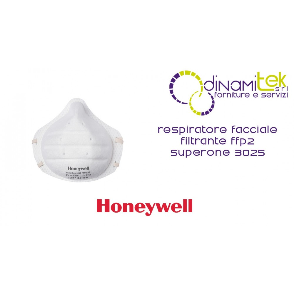 1013205 3205 V1 RESPIRATEUR FACIAL SUPERONE FFP2 NR HONEYWELL Dinamitek 1