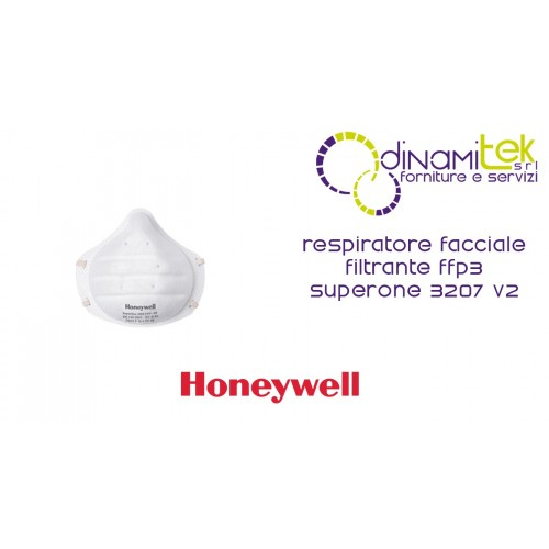 V2 SUPERONE FACIAL RESPIRATOR FFP3 NR WITH VALVE 3207 V2 HONEYWELL Dinamitek 1